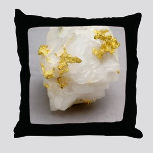 Gold in placer Throw Pillow