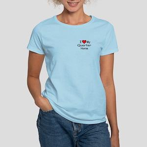 """I """"Heart"""" My Quarter Horse Women's Light T-Shirt"""