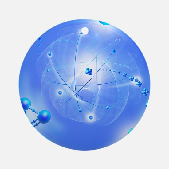 Atom, artwork Round Ornament