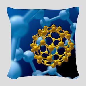 Buckyball technology Woven Throw Pillow