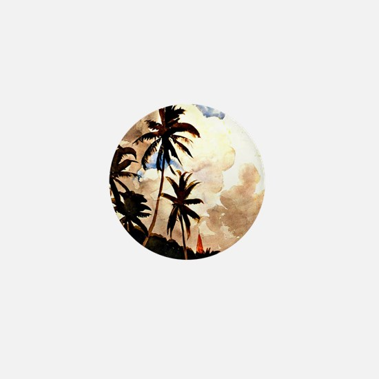 Winslow Homer - Palm Trees, Bahamas Mini Button