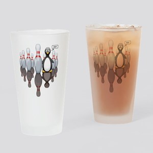 Bowling - Brown Drinking Glass