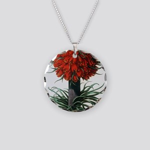 Crown imperial plant Necklace Circle Charm