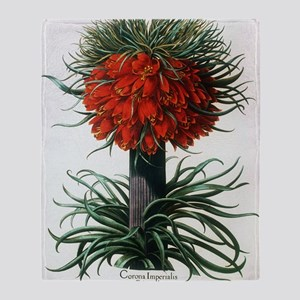 Crown imperial plant Throw Blanket