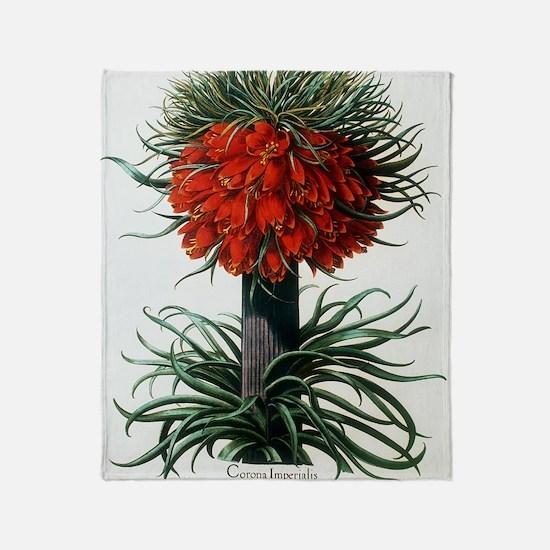 Crown imperial plant Throw Blanket