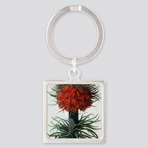 Crown imperial plant Square Keychain