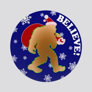 Sasquatch Santa Believe Ornament (Round)