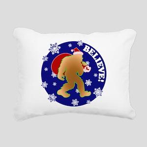 Sasquatch Santa Believe Rectangular Canvas Pillow