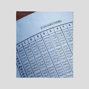 Logarithm table Throw Blanket