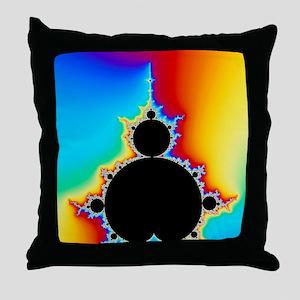 Mandelbrot fractal Throw Pillow