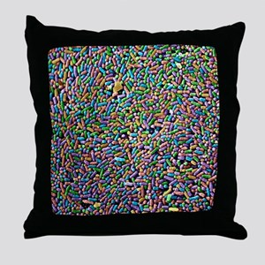 Salmonella bacteria, SEM Throw Pillow