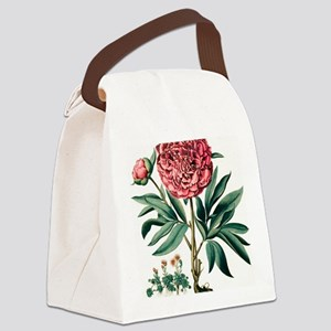 Peony flowers Canvas Lunch Bag