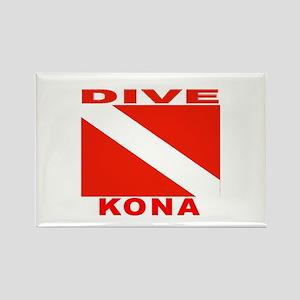 Dive Kona, Hawaii Rectangle Magnet