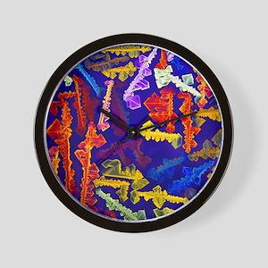 Naphthalene crystals Wall Clock
