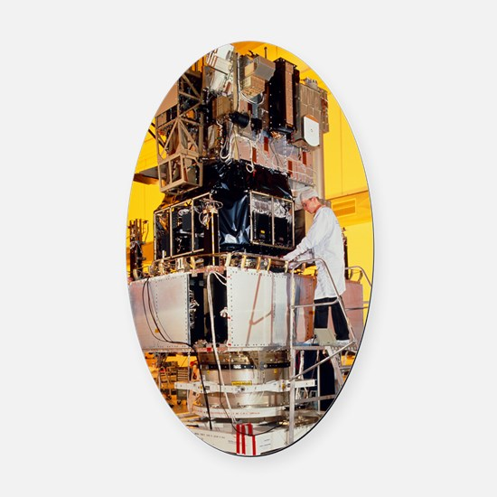 SOHO spacecraft during tests in Fr Oval Car Magnet