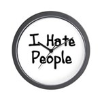I Hate People Wall Clock