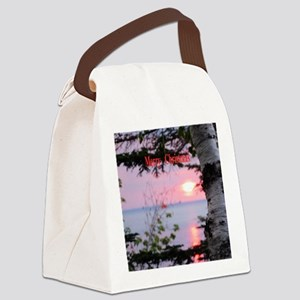 Sunset Lake Superior Canvas Lunch Bag