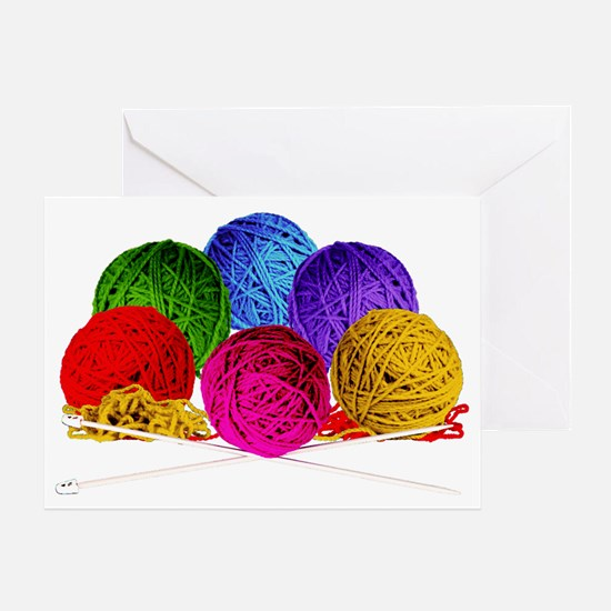 Great Balls of Bright Yarn! Greeting Card