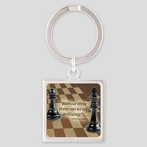 Chess Quote- Brilliance Square Keychain