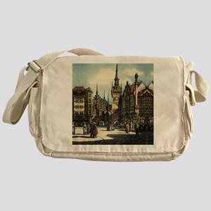 Munich Engraving Messenger Bag