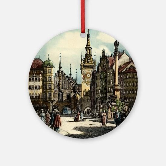 Munich Engraving Round Ornament