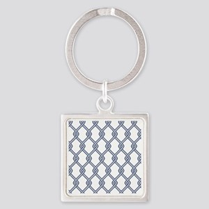 Chain Link Fence Square Keychain