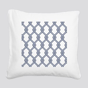 Chain Link Fence Square Canvas Pillow