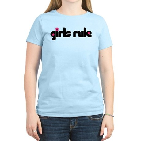 Girls Rule Women's Light T-Shirt