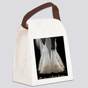 Feathered Gold Stables Canvas Lunch Bag