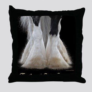 Feathered Gold Stables Throw Pillow