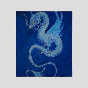 Mystical Blue Dragon Throw Blanket