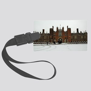Hampton Court Palace in the Snow Large Luggage Tag