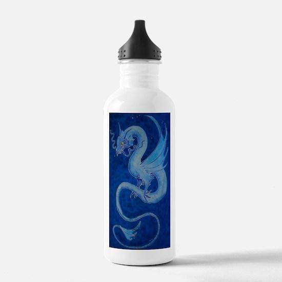 Mystical Blue Dragon Water Bottle