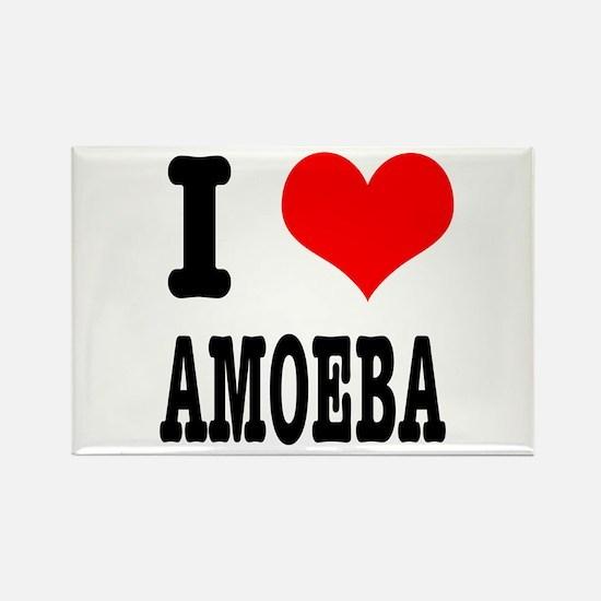 I Heart (Love) Amoeba Rectangle Magnet