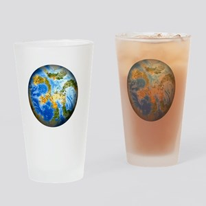 one people . one planet . one home Drinking Glass