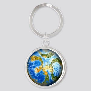 one people . one planet . one home Round Keychain