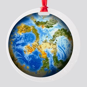 one people . one planet . one home Round Ornament