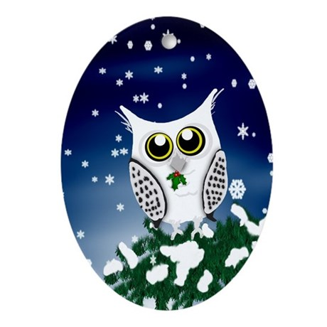 Christmas-Owl-GCV Oval Ornament