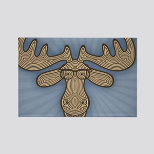 moose-nerd-TIL Rectangle Magnet