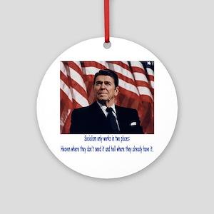 Reagan Round Ornament