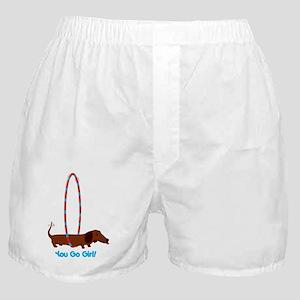 Hula Hoop Dachshund Boxer Shorts