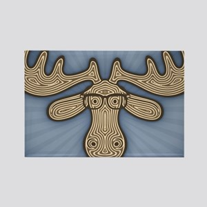 moose-nerd-LG Rectangle Magnet