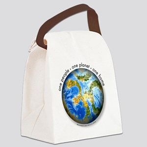 one people . one planet . one hom Canvas Lunch Bag