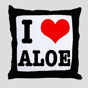 I Heart (Love) Aloe Throw Pillow