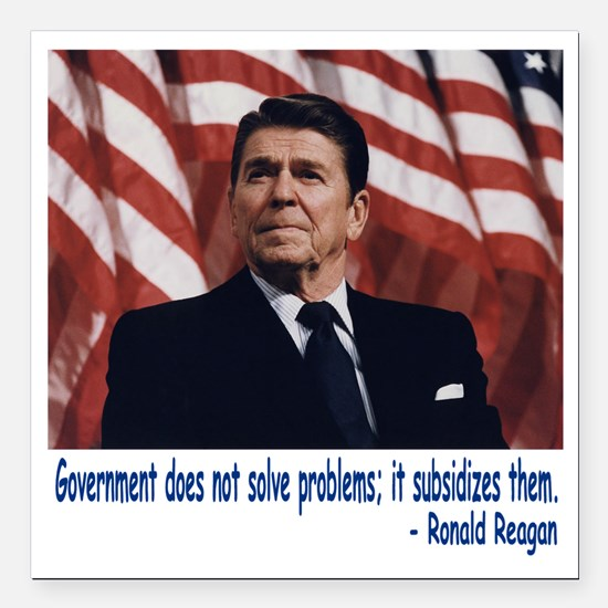 "Reagan Square Car Magnet 3"" x 3"""