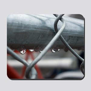 Rain and Chainlink Mousepad