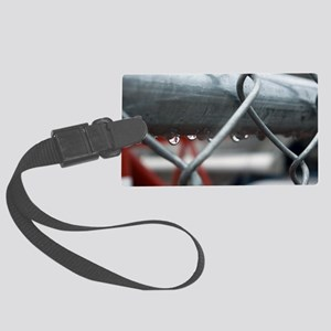 Rain and Chainlink Large Luggage Tag