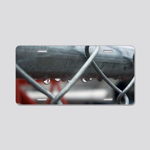 Rain and Chainlink Aluminum License Plate