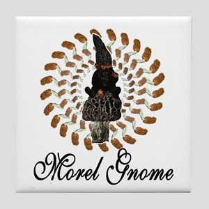 the morel gnome Tile Coaster