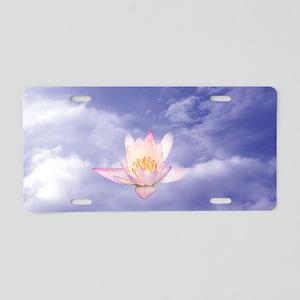 3x5rug-Zen Lily Aluminum License Plate